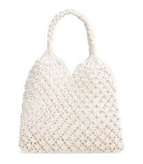 knotty crochet tote bag -