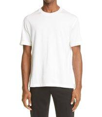 men's ermenegildo zegna leggerissimo cotton & silk t-shirt, size 38 us - white