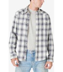 lucky brand men's mesa plaid western shirt