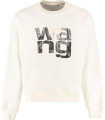 alexander wang printed crew-neck sweatshirt