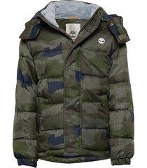 puffer jacket gevoerd jack groen timberland