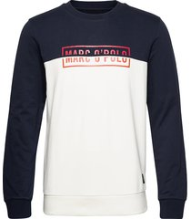 crew neck, color mix with artwork o sweat-shirt tröja multi/mönstrad marc o'polo