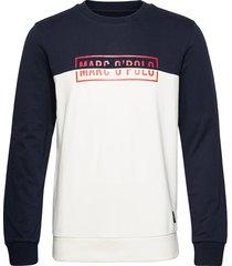 crew neck, color mix with artwork o sweat-shirt tröja multi/mönstrad marc o'polo