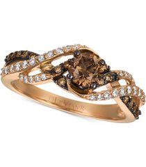 le vian chocolatier gladiator weave diamond ring (3/4 ct. t.w.) in 14k rose gold