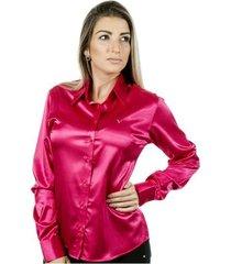 camisa pimenta rosada eléonore