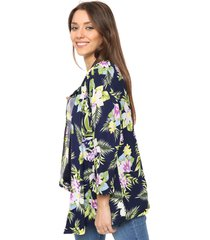 kimono azul donadonna
