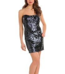 guess - crystal dress - zwart/black