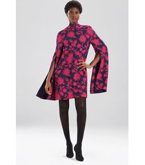 ikebana floral cape dress, women's, size 8, josie natori