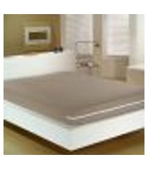 capa para colchão casal malha 100% algodão com zíper chocolate portallar