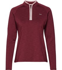 heat half zip sweat-shirt tröja röd röhnisch