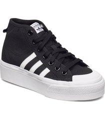 nizza platform mid w höga sneakers svart adidas originals