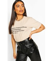 oversized woman print t-shirt, sand