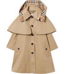 burberry beige cotton-twill coat