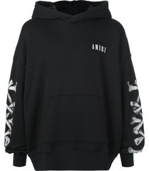 amiri bones hoodie - black