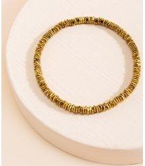 women's allyson geometric beaded bracelet in gold by francesca's - size: one size