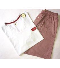 pijama hombre / short y camiseta tshirt cuello v /