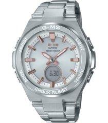 g-ms women's solar analog-digital stainless steel bracelet watch 38.4mm