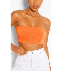 recycled basic bandeau top, orange