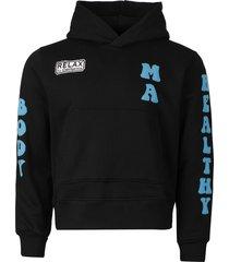 healthy body hoodie, black