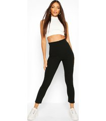 stretch woven frill top trouser
