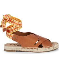 alisha ankle-tie leather sandals