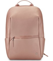 men's vessel signature 2.0 lite faux leather backpack - pink