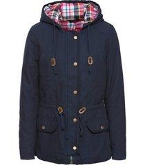 giacca imbottita con fodera a quadri (blu) - john baner jeanswear
