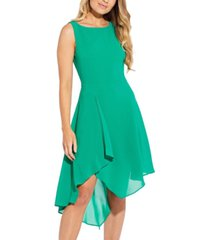 adrianna papell asymmetrical a-line dress