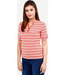 camiseta en rayas coral 12