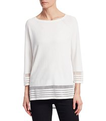 collection viscose elite sheer inset top