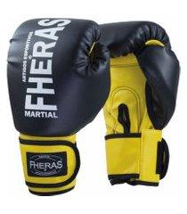 luva boxe muay thai fheras new orion pr/am 14 oz .