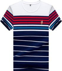camiseta de manga corta para hombre, color rojo.