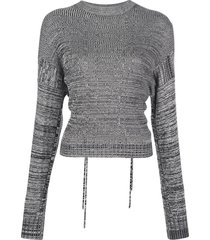 marl cut-out sweater