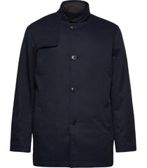slhsimon coat bp dunne lange jas blauw selected homme