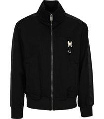 1017 alyx 9sm alyx black buckle-detail zip-up bomber jacket