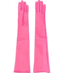 manokhi long fitted gloves - pink