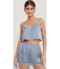 na-kd lingerie shorts - blue