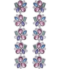t tahari candied floral linear earring