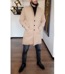 abrigo cashmere outfit para hombre beige