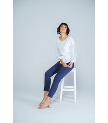 blusa adrissa blanca tela ecologica