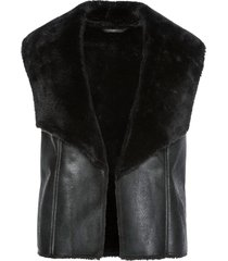 gilet in similpelle (nero) - bpc selection