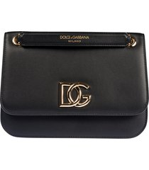 dolce & gabbana mid logo plaque shoulder bag