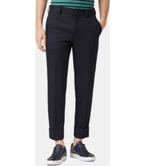 boss men's relaxed fit virgin wool trousers