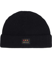 versace love versace knitted hat