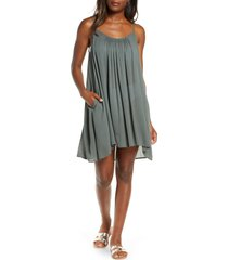 women's elan cover-up slipdress, size large - green (nordstrom exclusive)