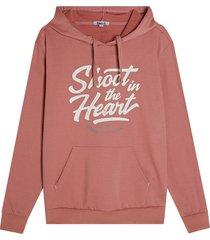 buzo hoodie shoot color rosado, talla l