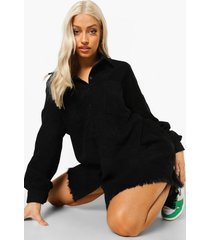 oversized corduroy blouse, black