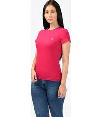 camiseta básica fucsia para mujer