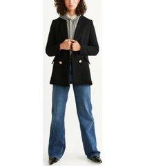 mango double-breasted tweed jacket