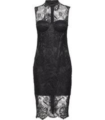 lou lace dress jurk knielengte zwart marciano by guess